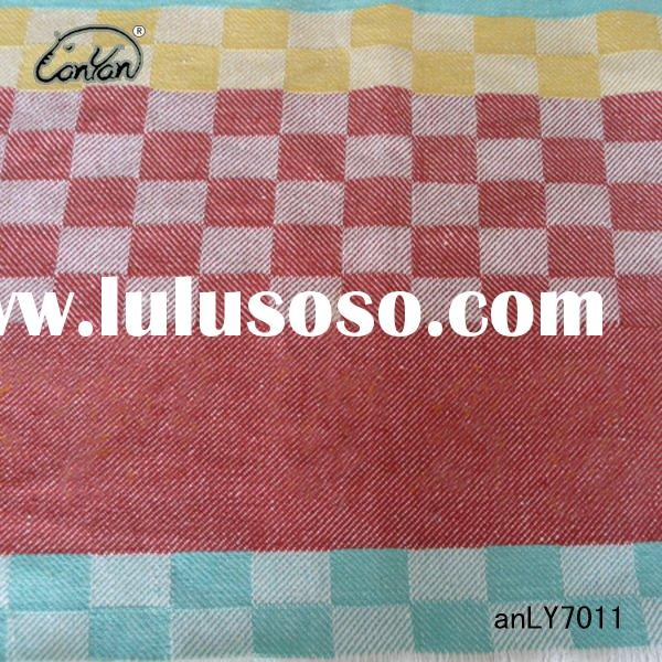 linen 55% cotton 45% yarn dyed jacquard table cloth fabric