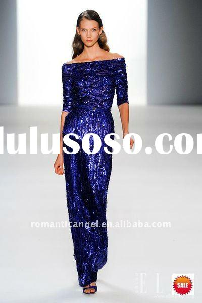 long sleeve evening sequins beaded dresses