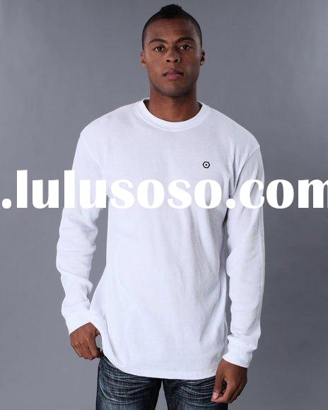 men's 100% cotton walfchecks hip hop extra l plus size long sleeve t-shirt