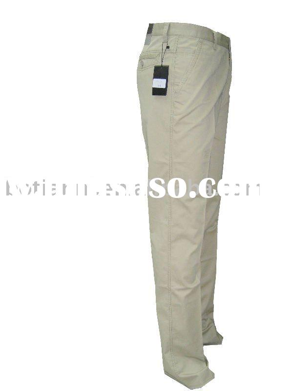 men's 100% cotton woven basic trousers