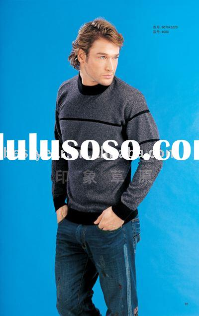 men's 100% knitted cashmere sweater