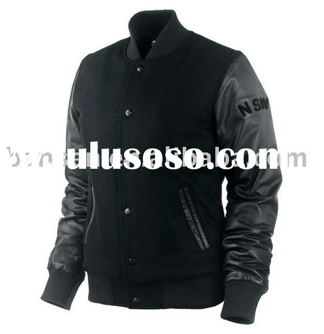 men's melton baseball jacket