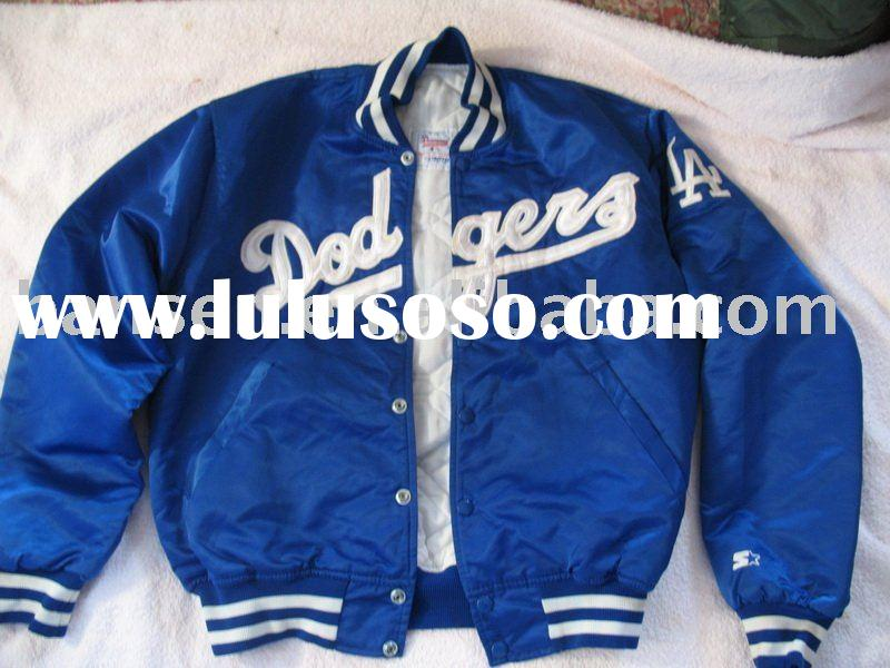 men's polyester satin baseball jacket