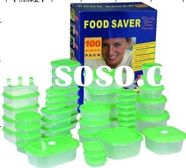 microwave available 100-piece plastic food container set