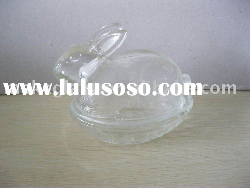 mini glass bowl with glass lid/glass candy jar/glass container