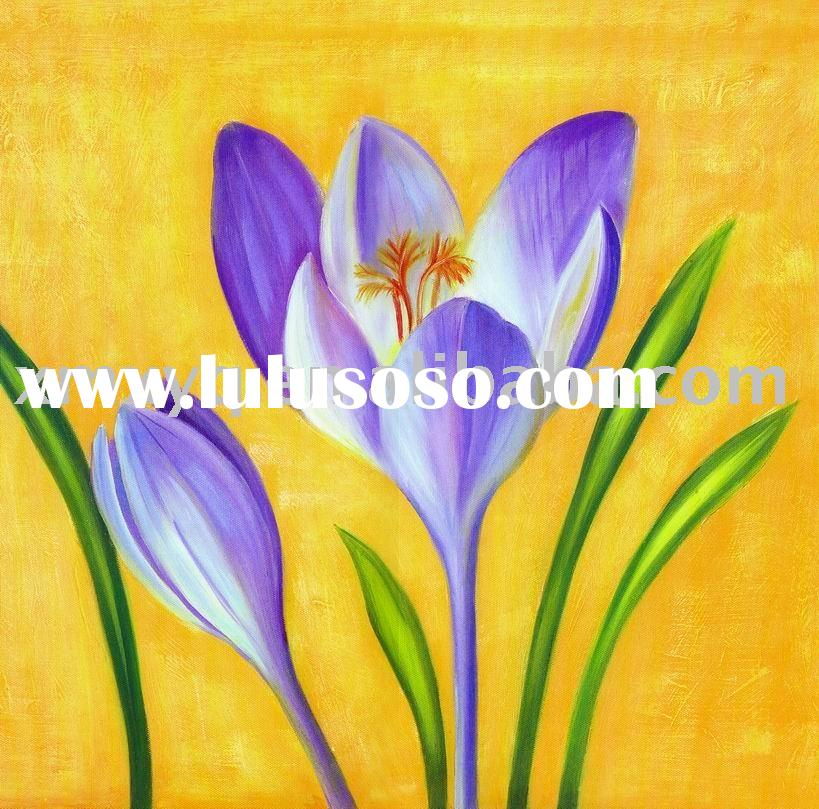 modern abstract art oil painting on canvas flower