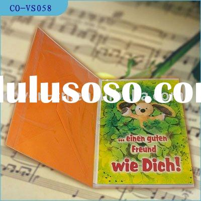 music birthday card/voice message card/Christmas sound card