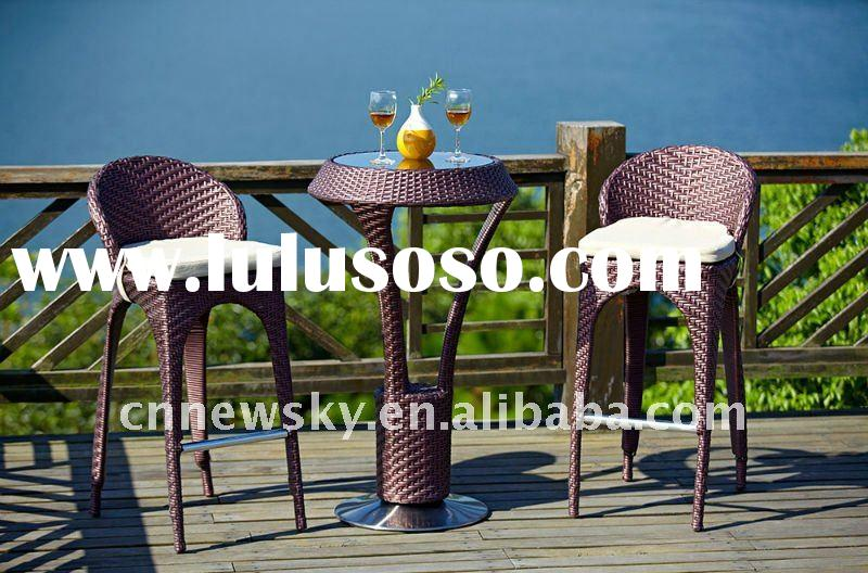 outdoor rattan wicker bar furniture set