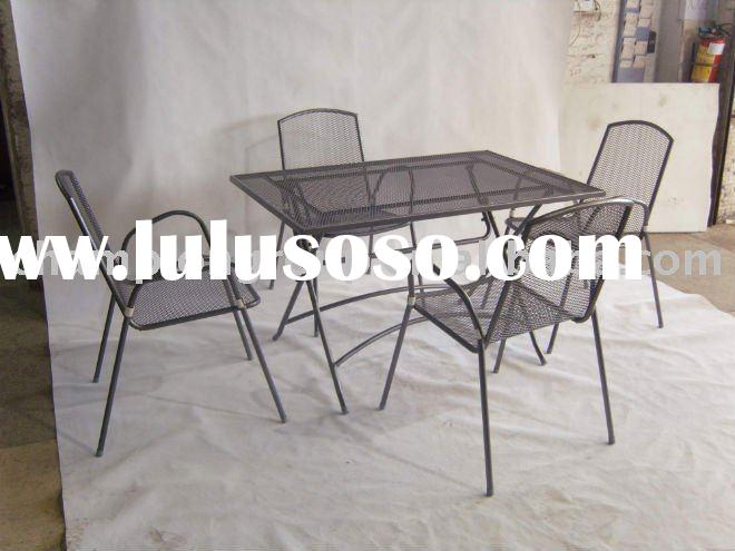 outdoor table and chair WR-3582 metal frame and mesh