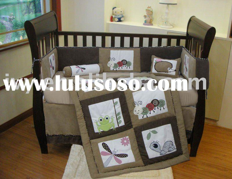 patchwork suede fabric baby bedding