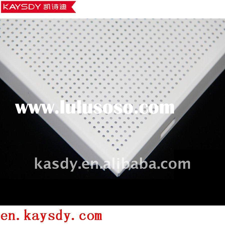 perforated dia micro holes clip-in aluminum ceiling tiles