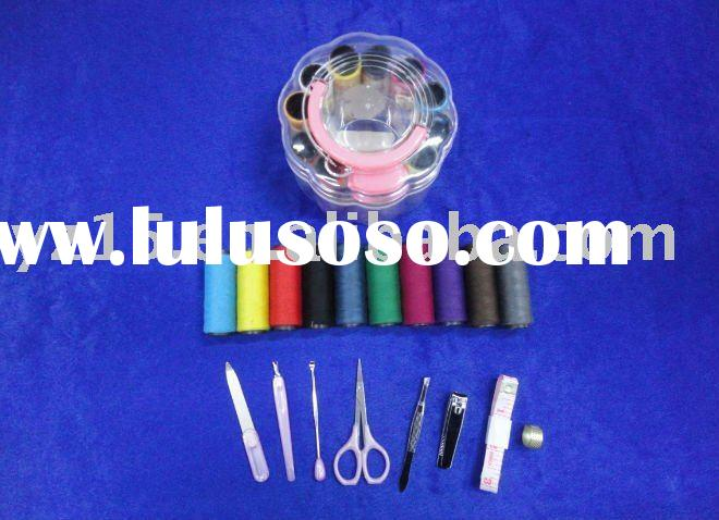 plastic sewing thread box for home use/sewing box kit/needle thread box