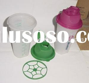 plastic sports shaker bottle