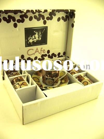 pocerlain Coffee cup and saucer sets with gift box