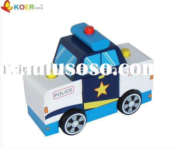 police vehicle --wooden toy car,wooden vehicle toys ,wooden gifts