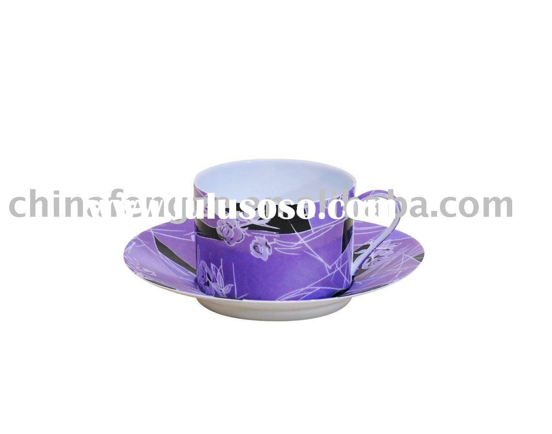 porcelain tea cup and saucer, coffee set, tableware