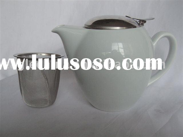 porcelain tea pot,teapot with stainless steel filter