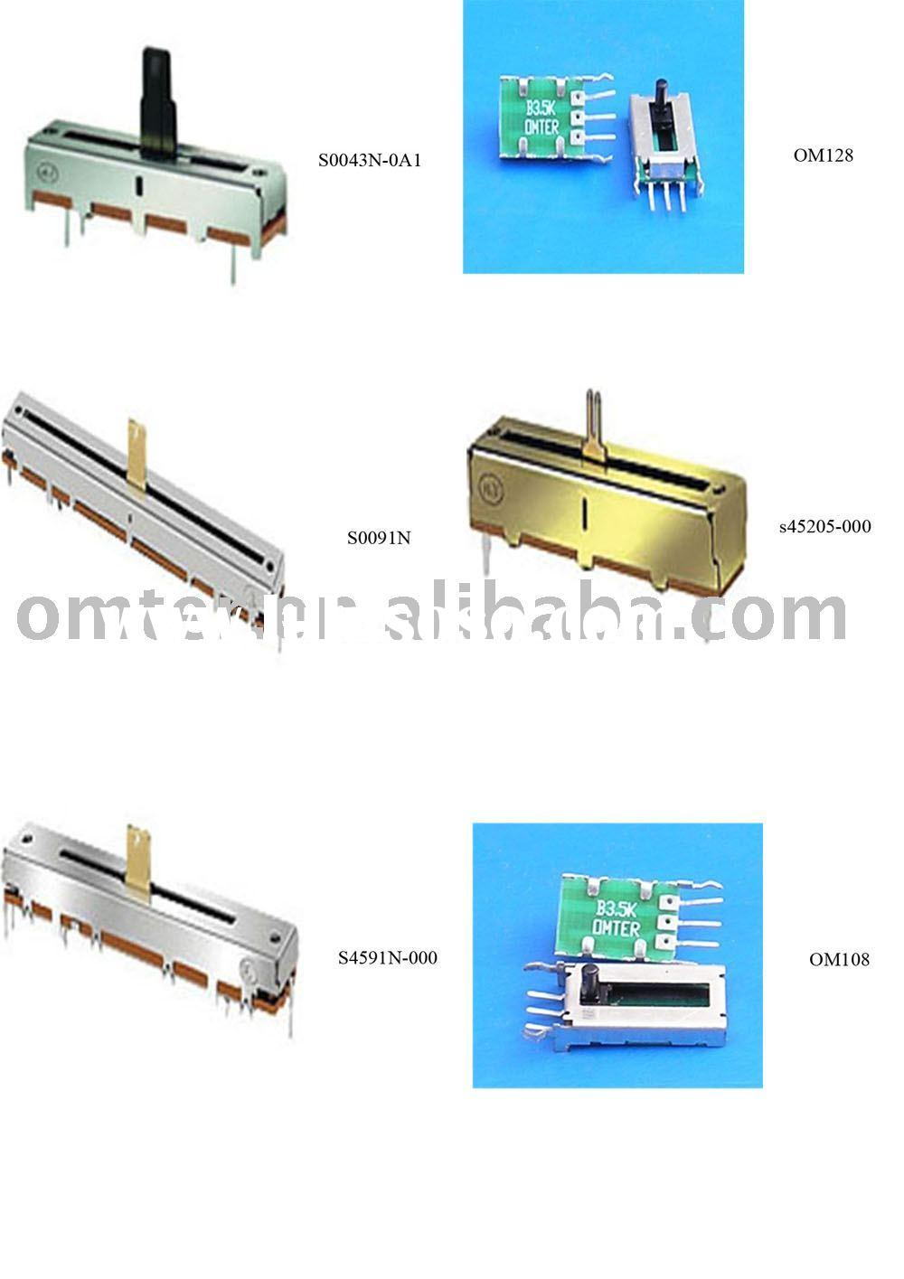 potentiometer(slide potentiometer,variable resistor potentiometer)