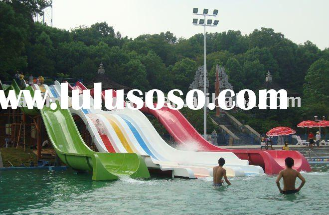 rainbow slides-professional export water park/waterpark equipment/outdoor equipment/playground