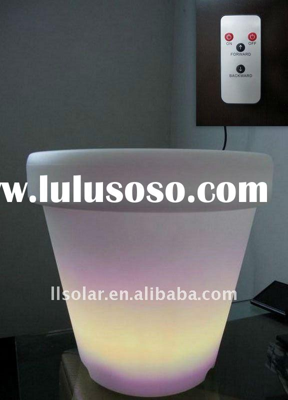 remote control color-changing solar powered flower pot light