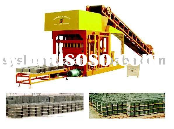 semi-automatic concrete hollow block/brick making machine(QTJ4-25)cement hollow/solid block making p