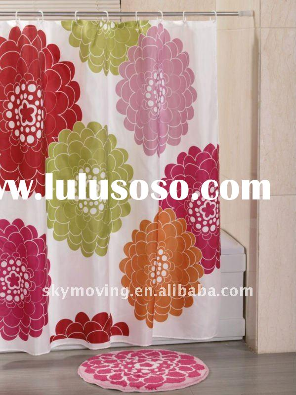 shower curtain and bathroom set