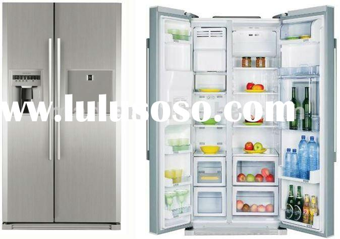 side by side refrigerator fridge with water dispenser,ice maker and mini bar