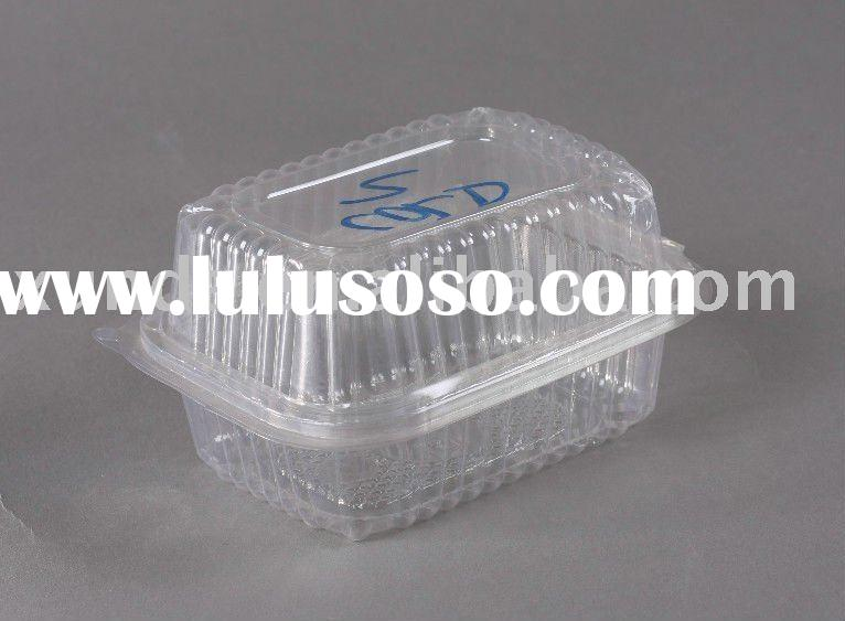 small fruit container/ plastic fruit packing/ clear fruit box