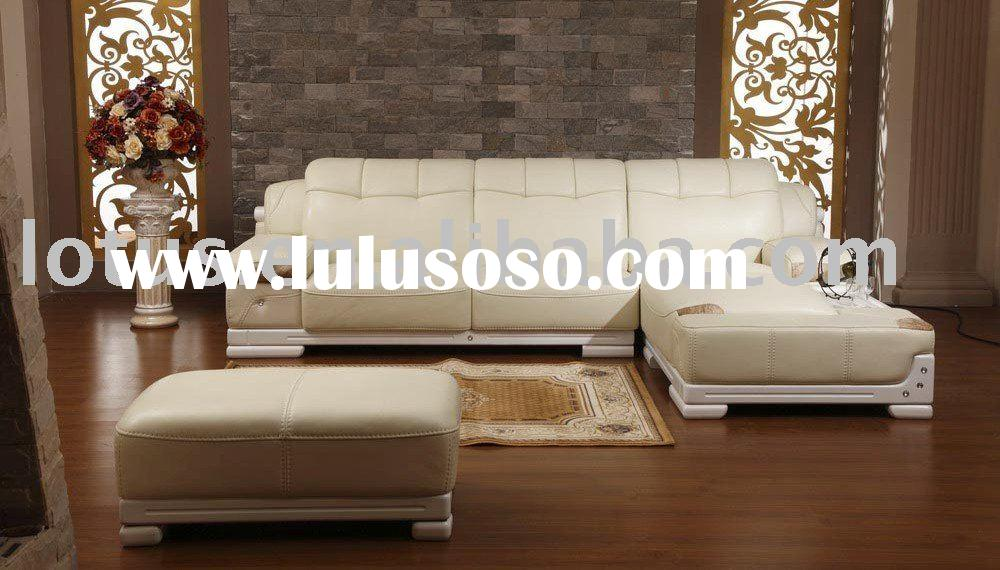 sofa set design Genuine leather A+B+end coffee table