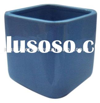 square black ceramic flower pots