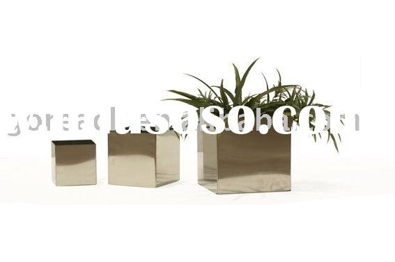 square vase of stainless steel, square flower pot, metal square vase
