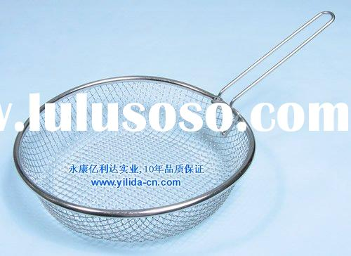 stainless steel wire mesh fry fryer frying strainer colander (YLD025)