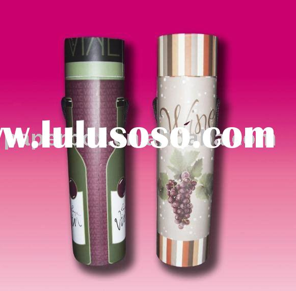 sturdy color print rolled round paper tubes for wine bottle