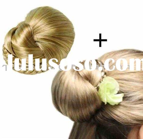 synthetic hair braided Dome, synthetic hair bun, fashion synthetic hair piece
