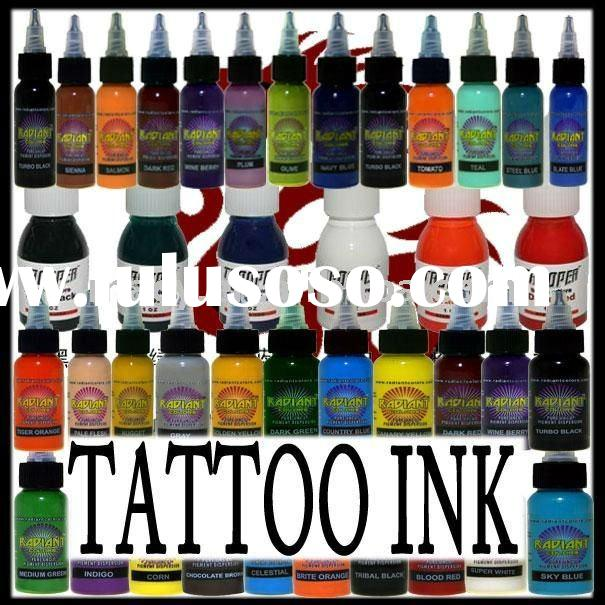 tattoo ink 1oz/Bottle , we have 14 defferent colors :green,golden,bright red