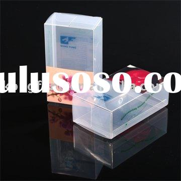 transparent clear plastic folding storage acetate PP packaging box