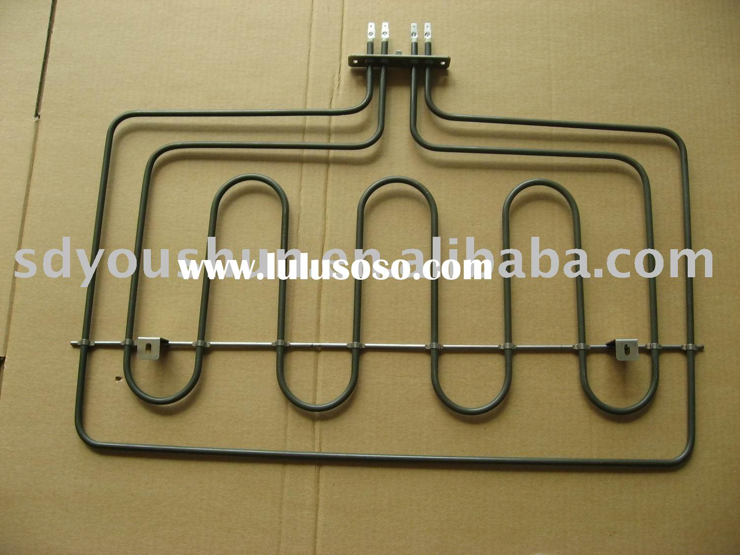 tubular heating element for electric stove
