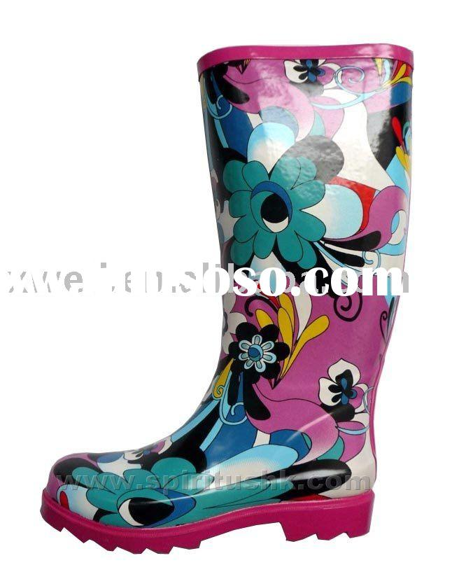 waterproof boots(ladies' rubber boots (fashion),outdoor shoes)