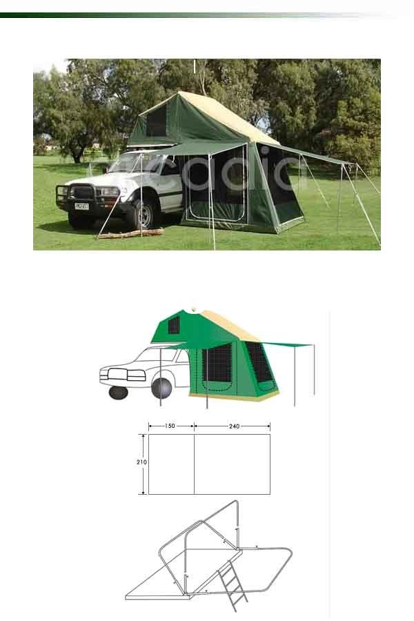 waterproof,rip-stop cotton canvas car roof top tent