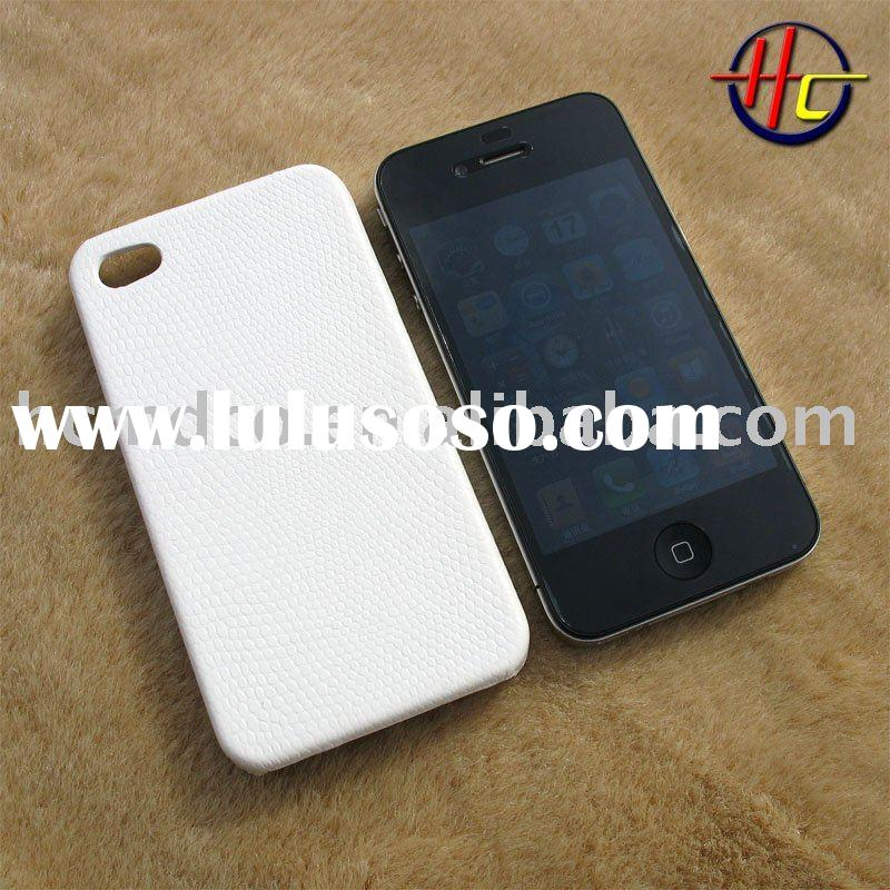 white leather case for apple iphone 4(CDMA)