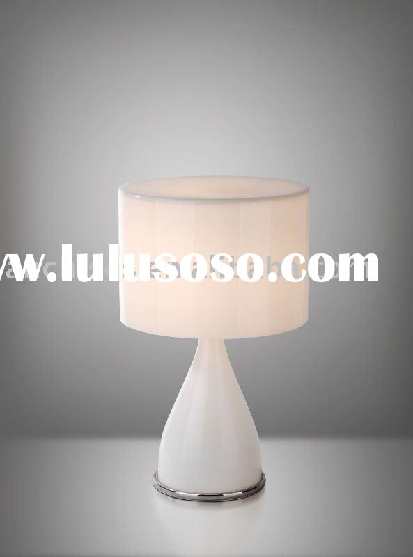 white modern glass table lamp AT6172-1WH
