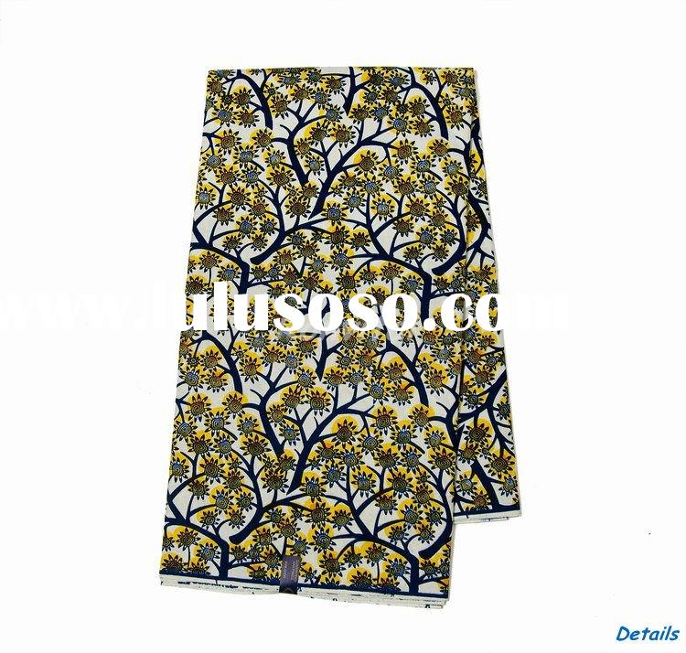 wholesale fashion veritable real wax print madras cotton fabric 115c