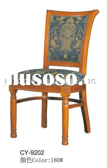 wooden blue fabric commercial Furniture/modern dining chairs/vintage chairs CY-9202