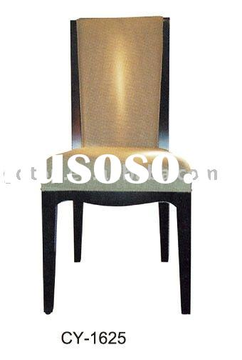 wooden white pu leather commercial Furniture/resin chairs/dining chairs CY-1625