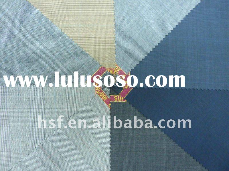 worsted wool polyester suitting fabric