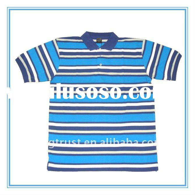yarn dyed polo shirt men's polo shirt
