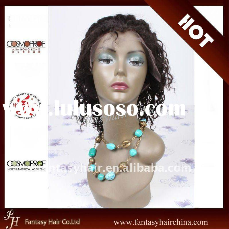 100% Human Hair African American Full Lace Wigs