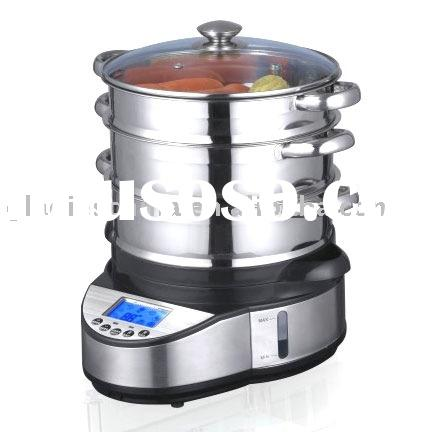 1070W 3 layers Stainless steel Food Steamer with CE CB CCC