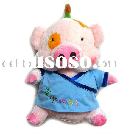 12CM Plush Animal Toys Hanger with shirt