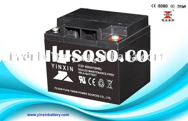 12V40AH battery for power wheel chairs /battery for ups/battery for home alarm